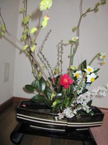 トサミズキの生け花