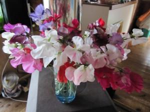 スイトピー花瓶